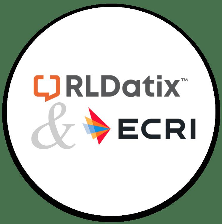 RLDatix and ECRI logos