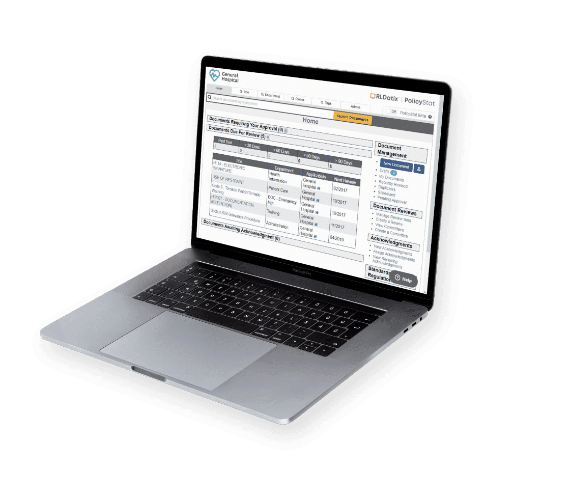 policy management laptop